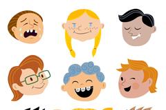 9款创意孩子头像矢量素材