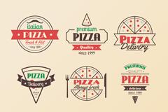 9款复古披萨标志矢量素材