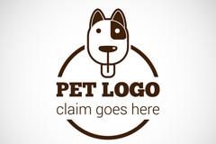 宠物狗标志矢量素材