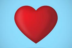 标准红色爱心设计矢量素材