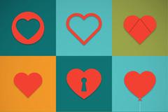 9款创意爱心图标矢量素材