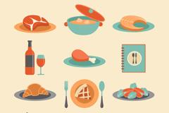 12款餐饮食物设计矢量素材