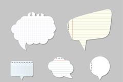 8款纸质语言气泡矢量素材
