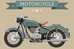 复古时尚摩托车海报矢量素材