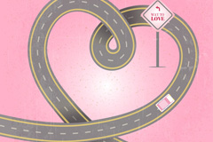 寻找爱的公路车辆矢量素材