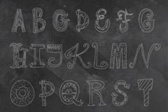 26个手绘字母设计矢量图