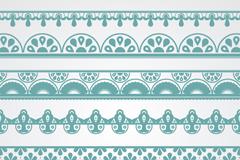 7款绿色花纹边条矢量素材