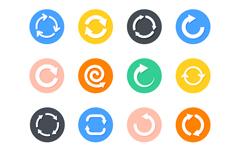 12款循环箭头图标矢量素材
