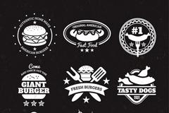 9款快餐食品标志矢量素材