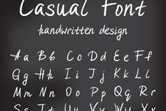 26个手写大小写字母矢量素材