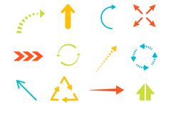 16款彩色箭头图标矢量素材