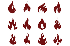 16款火焰图标矢量素材