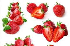切开的红色草莓高清图片下载