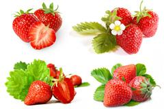 5组成堆的草莓高清图片下载