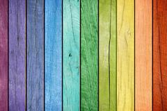 彩虹色木板高清图片素材
