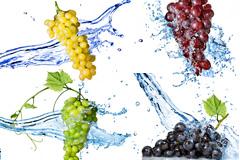 5款水中的葡萄图片高清素材