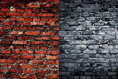四边暗角的砖墙背景图片