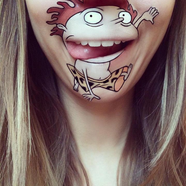 擅长在自己嘴唇上画画的姑娘