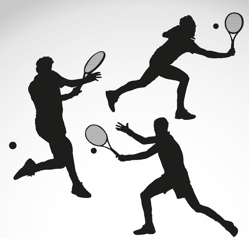 网球剪影_