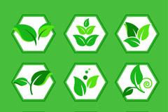 9款创意绿叶图标矢量素材