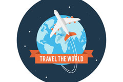 精美环球旅行插画矢量图