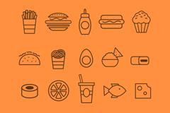 20款创意食物图标矢量素材