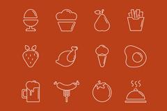 16款创意食品图标矢量素材