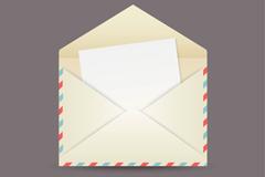 打开的信件设计矢量素材