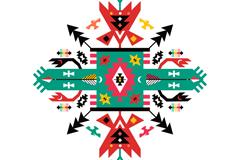对称抽象花纹图案矢量素材
