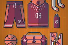 7款篮球用品矢量素材