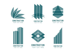 9款抽象建筑标志矢量素材