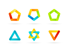 9款彩色图案图标矢量图