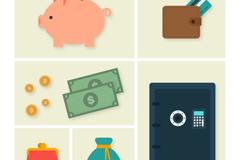 6款金融元素图标矢量素材