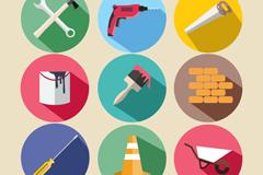 9款建筑工具图标矢量素材