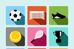 9款精致体育元素图标矢量素材