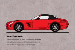 时尚红色轿车设计矢量素材