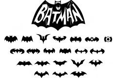 21个蝙蝠侠BATMAN标志矢量图