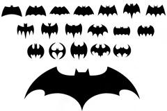 19个蝙蝠侠标志矢量图