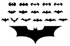 22个电影蝙蝠侠标志矢量素材