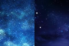 2张蓝色璀璨星空背景高清图片下载
