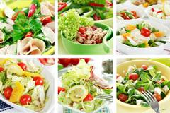 9款美味蔬菜沙拉高清图片