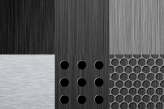 6款金属拉丝和网孔背景图片