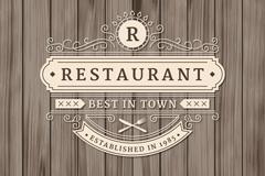 复古餐厅标志设计矢量素材