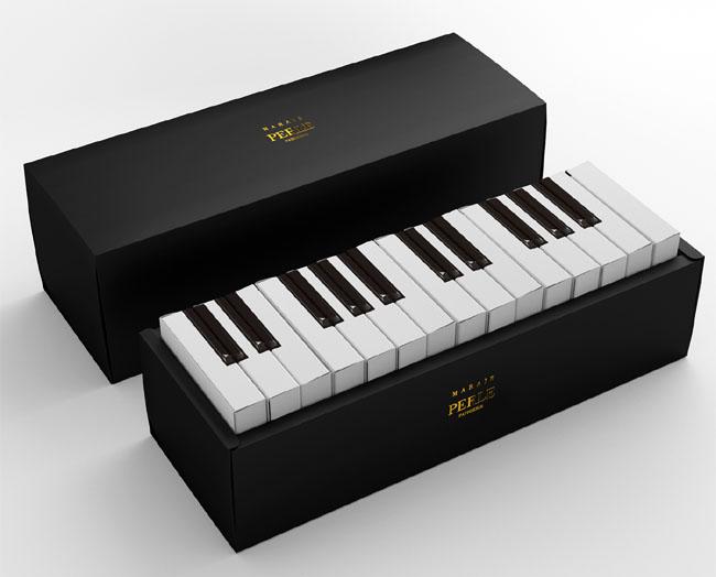 PERLE蛋糕的钢琴创意包装设计