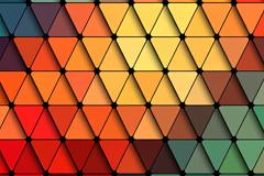 彩色渐变三角形拼贴背景图片