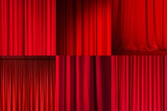 6张红色幕布背景高清图片下载