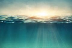 蓝绿色的海底高清图片下载