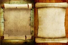 2款复古卷轴纸张背景图片下载