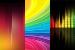 3张彩虹色背景图片下载