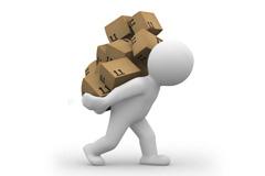 搬运货物的3D小人图片